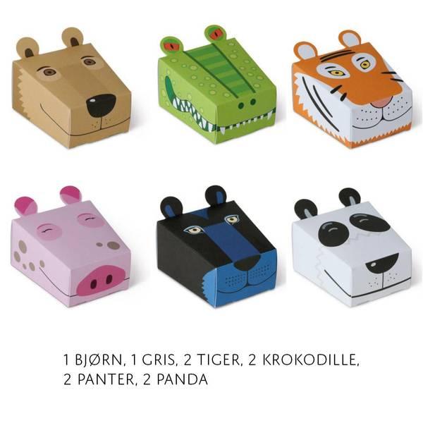 Bilde av 10pk med bjørn, gris, tiger, krokodille, panter,