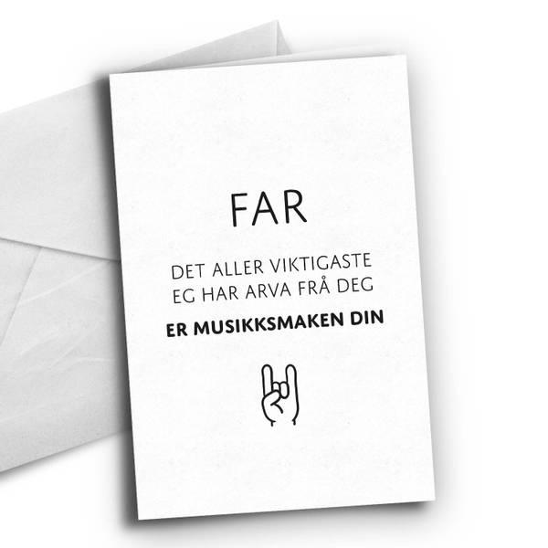 Bilde av Nynorsk: Fars musikksmak