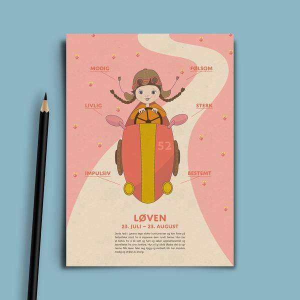 Bilde av Bursdagskort Løven Pike