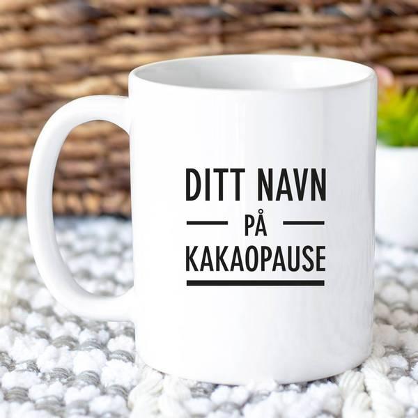 Bilde av Kopp Din tittel - Kakaopause voksen