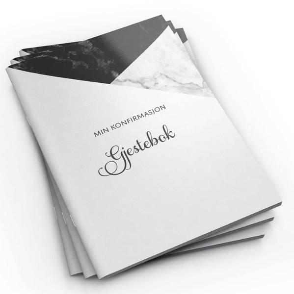 Bilde av Gjestebok - Min konfirmasjon (svart marmor)