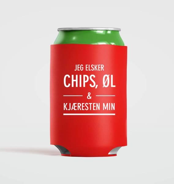 Bilde av Chips, øl og kjæresten