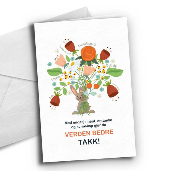 Bilde av Du gjør verden bedre-Blomster
