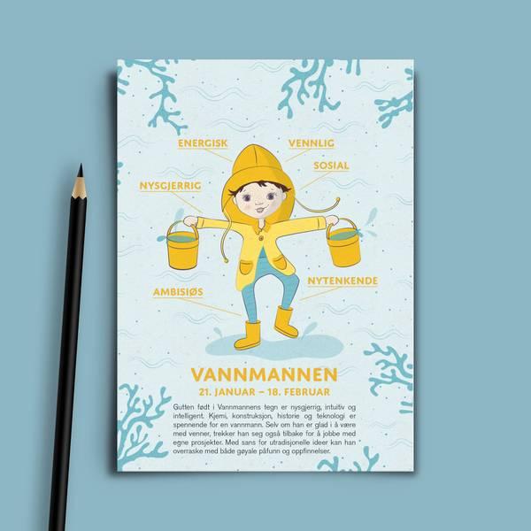Bilde av Bursdagskort Vannmannen Gutt