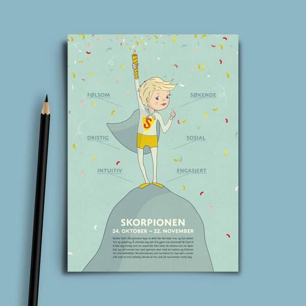 Bilde av Bursdagskort Skorpionen Gutt