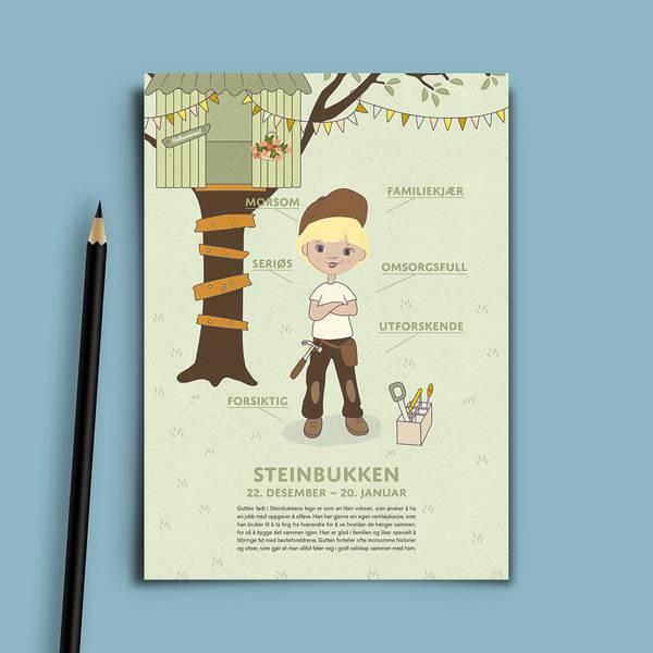 Bilde av Bursdagskort Steinbukken Gutt