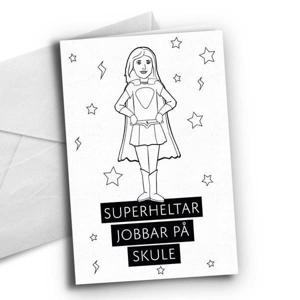 Bilde av Nynorsk: Superheltar Skole dame