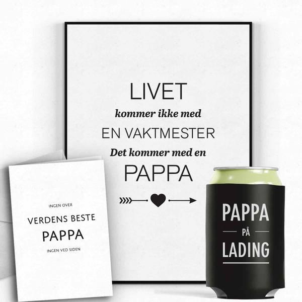 Bilde av PAKKEPRIS Pappa, kort og bokskjøler