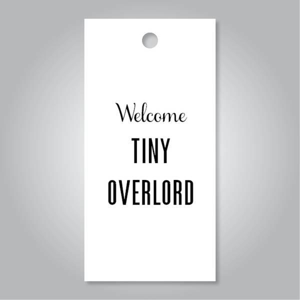Bilde av Welcome tiny overlord hvit