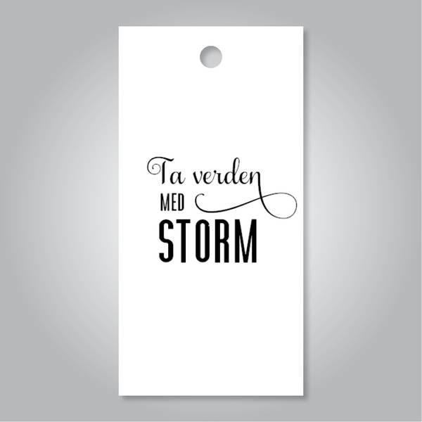 Bilde av Ta verden med storm - hvit