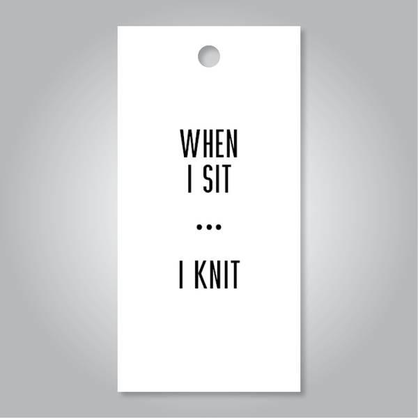 Bilde av When I sit I knit