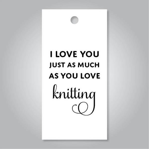 Bilde av I love you knitting