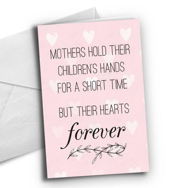 Bilde av Kort: Mothers hold their childrens hand forever