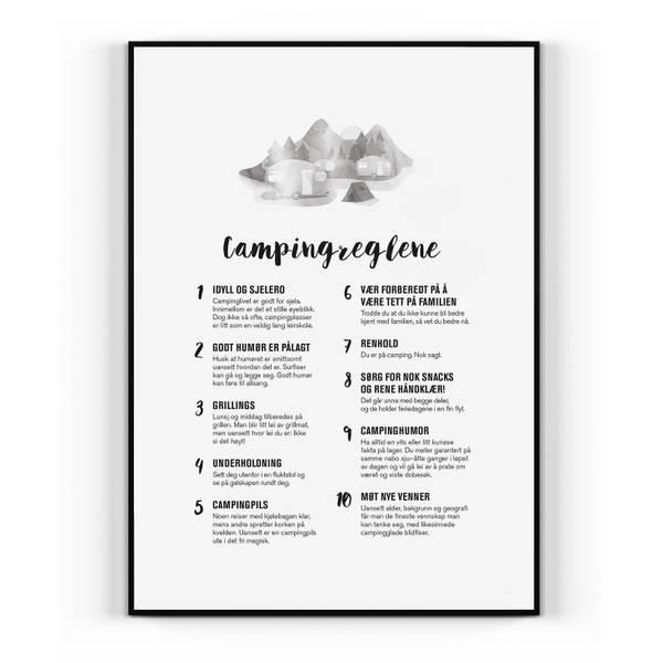 Bilde av Campingreglene