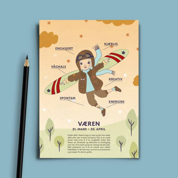Bilde av Bursdagskort Væren Gutt