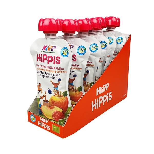 Bilde av Hippis Eple, fersken, blåbær & bringebær (Kartong