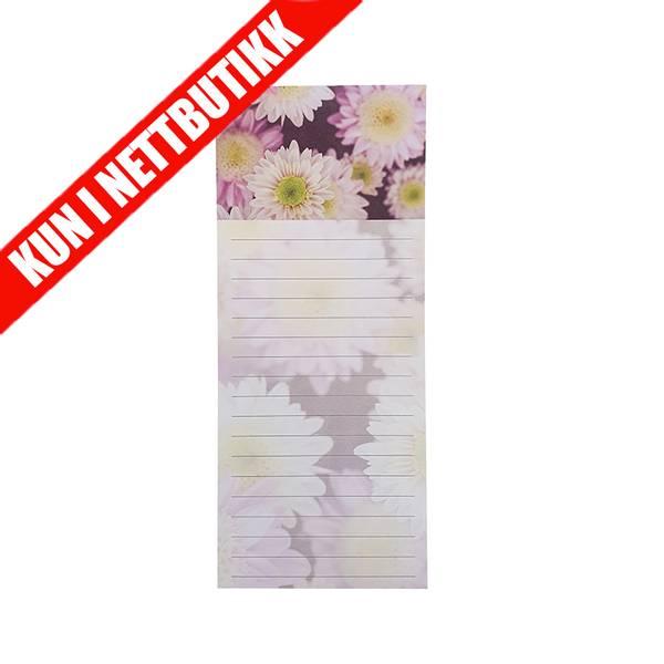Bilde av Notatblokk m/magnet - Blomster