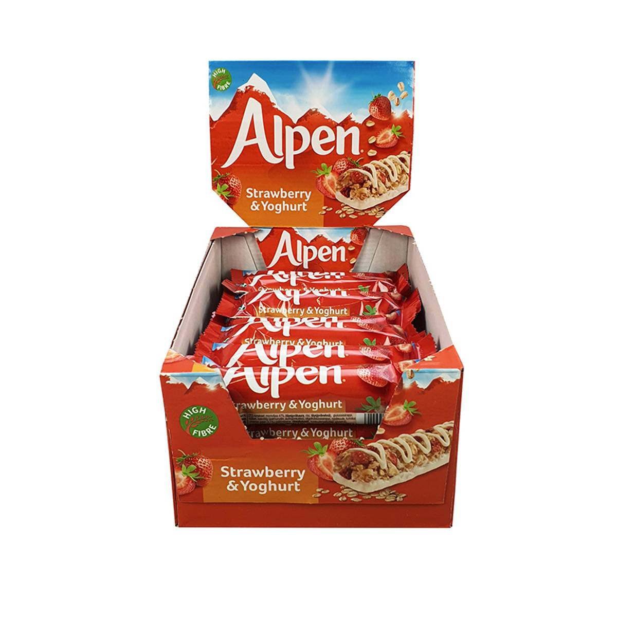 Alpen Strawberry & Yoghurt (Kartong 24stk)