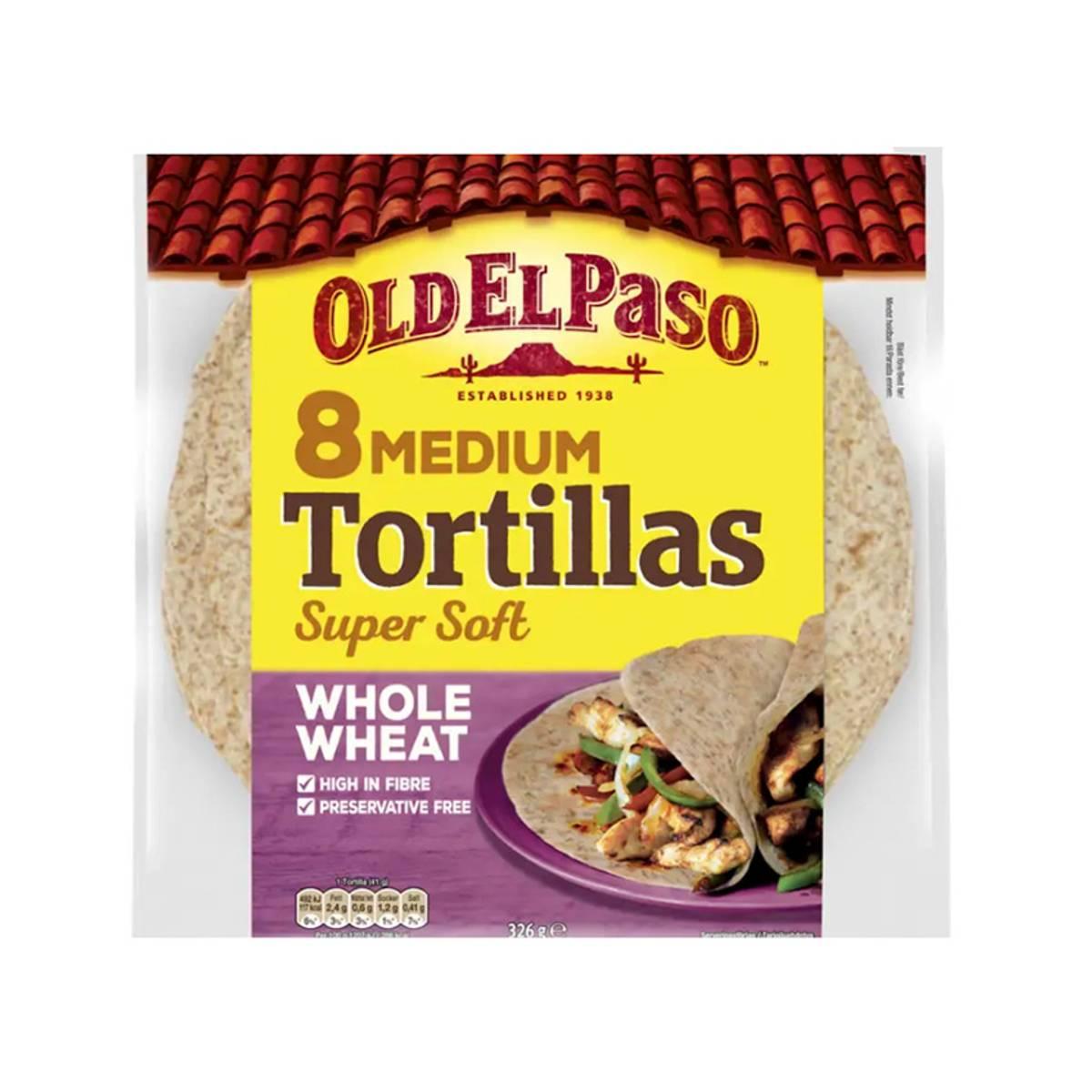 8 Medium Tortillas Whole Wheat