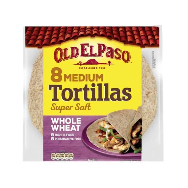 Bilde av 8 Medium Tortillas Whole Wheat