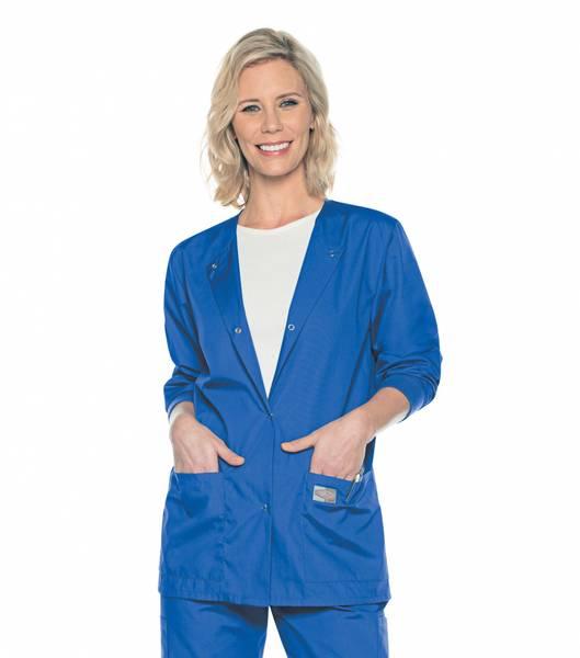Bilde av Dame jakke med ribbestrikkede