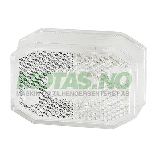 Bilde av Glass Flexipoint I HVIT u/skruer