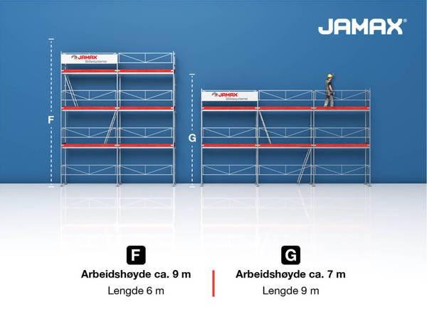 Bilde av Jamax stillas Huspakke 3 (49,5 m2)