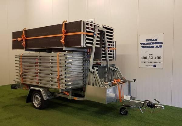 Bilde av Jamax stillaspakke på 55,5 m2 og stillashenger