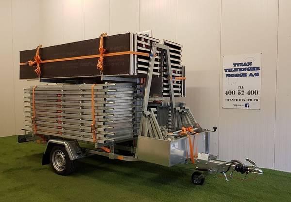 Bilde av Jamax stillaspakke på 82,5 m2 og stillashenger