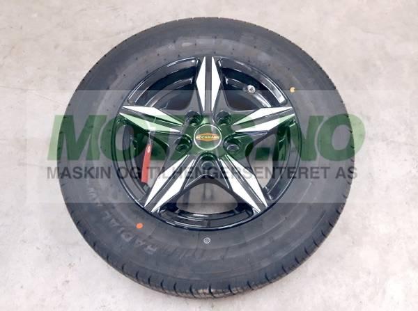 Bilde av Komplett hjul 195/70 R14 5L svart/sølv alu-felg