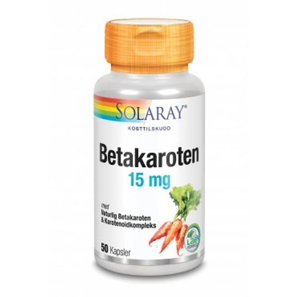 Bilde av Solaray Betakaroten 15 mg