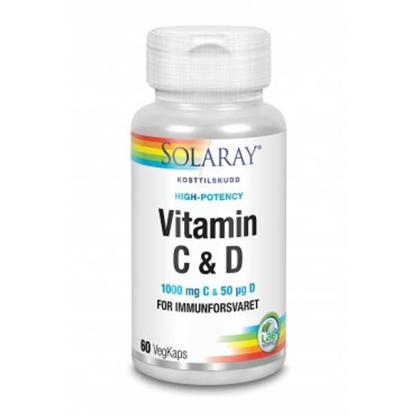 Bilde av Solaray C & D-vitamin