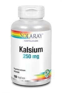 Bilde av Solaray Kalsium 250 mg 120 kapsler
