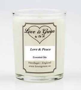 Bilde av Love is Green Duftlys Love & Peace