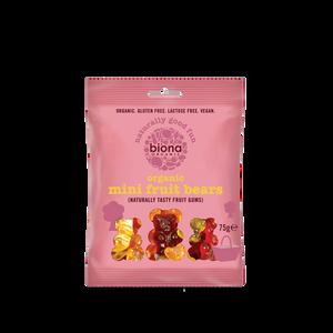 Bilde av Biona Godteri Mini Fruit Bears 75g