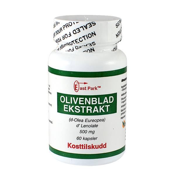 East Park Olivenbladekstrakt liten boks 500 mg 60 kapsler