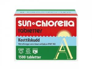Bilde av Sun Chlorella 1500 tabletter STOR eske