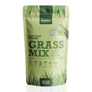 Bilde av Purasana Grass Mix 200 g pulver