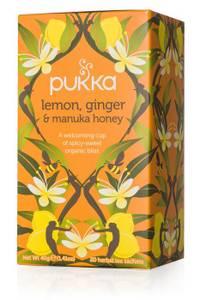 Bilde av Pukka Lemon Ginger & Manuka Honey Tea 20 poser