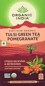 Bilde av Organic India Tulsi Green Tea Pomegranate 25 poser