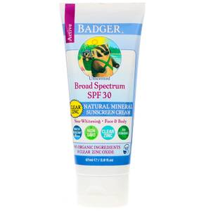 Bilde av Badger Solkrem SPF30 Unscented Clear 87 ml