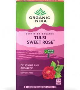Bilde av Organic India Tulsi Sweet Rose Tea 25 poser