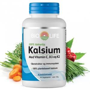 Bilde av Bio-Life Kalsium med vitamin C + D3 + K2 90 kapsler