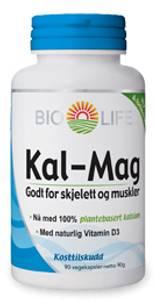 Bilde av Bio-Life Kal-Mag 1:1 med D3 vitamin 90 kapsler
