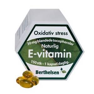 Bilde av Berthelsen Naturlig E-vitamin 30 mg 150 kapsler