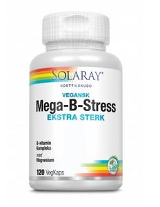 Bilde av Solaray Mega-B-Stress EKSTRA STERK 120 kapsler