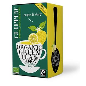 Bilde av Clipper Tea Green Tea & Lemon 20 poser