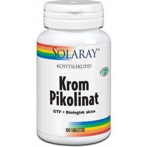 Bilde av Solaray Krom Pikolinat 125 mcg 100 tabletter