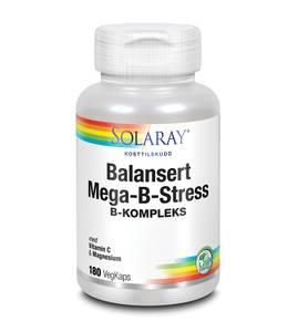 Bilde av Solaray Balansert Mega-B-stress 180 kapsler