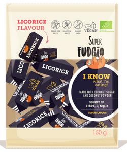 Bilde av Super Fudgio Licorice myke karameller 150 g